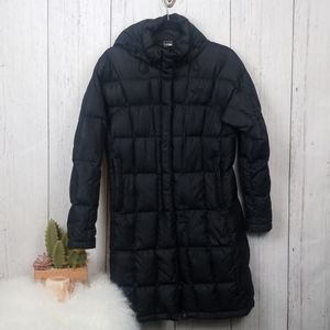The North Face long black puffer jacket size Small